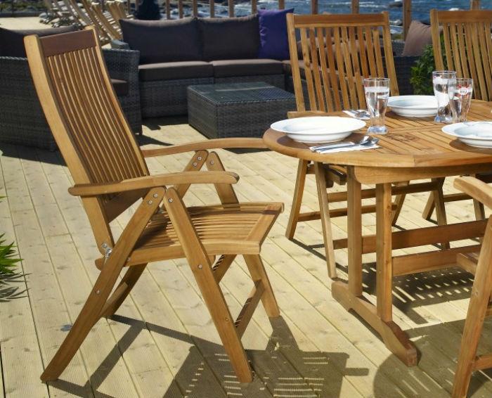 Pomysł na drewniane meble ogrodowe